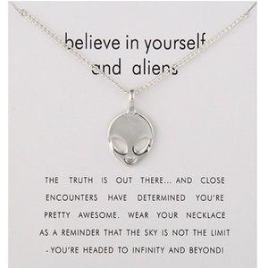 Jewelry - Inspirational Believe in Yourself Alien Necklace